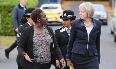 Theresa May at the National Black Police Association (NBPA) conference.