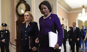 Val Demings, right, a Democratic representative from Florida among contenders to be Joe Biden's running mate.