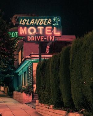 Islander Motel Drive-In in Los Angeles by photographer Franck Bohbot.