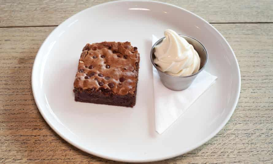 'Childhood favourites at Michelin-starred taste levels': brownie and ice-cream.