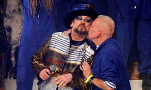 Boy George sang a cover of Amy Winehouse's Back to Black during Gaultier's show.