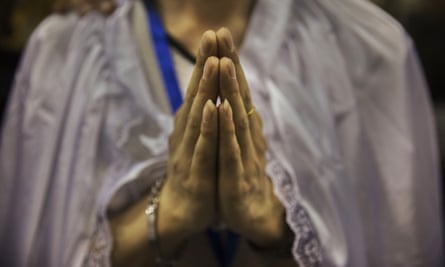 Religion: a real-life game in which we pray to collect virtuous points.