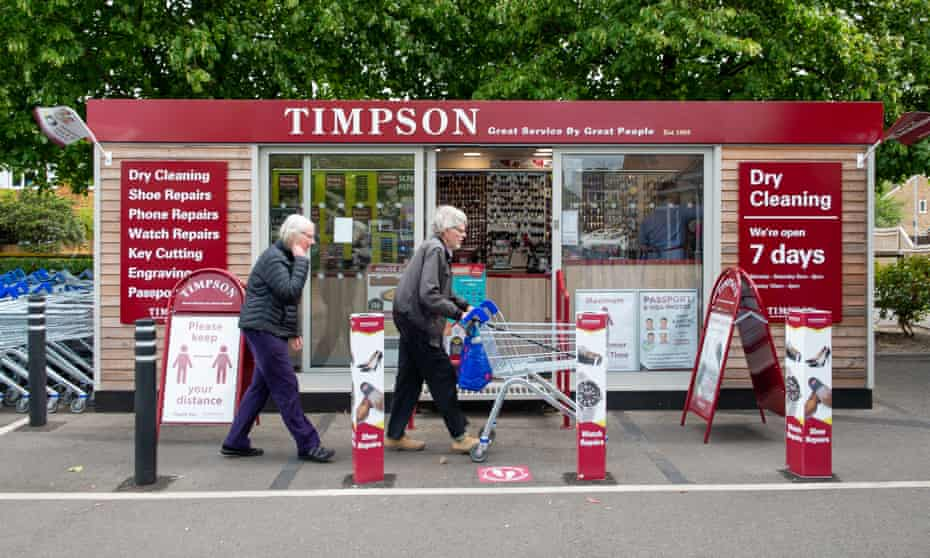 A Timpson shop in Dedworth in Windsor, Berkshire
