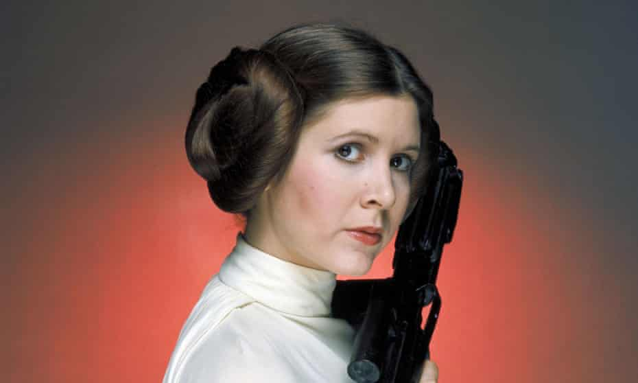 Golden age … Carrie Fisher in 1977's Star Wars.