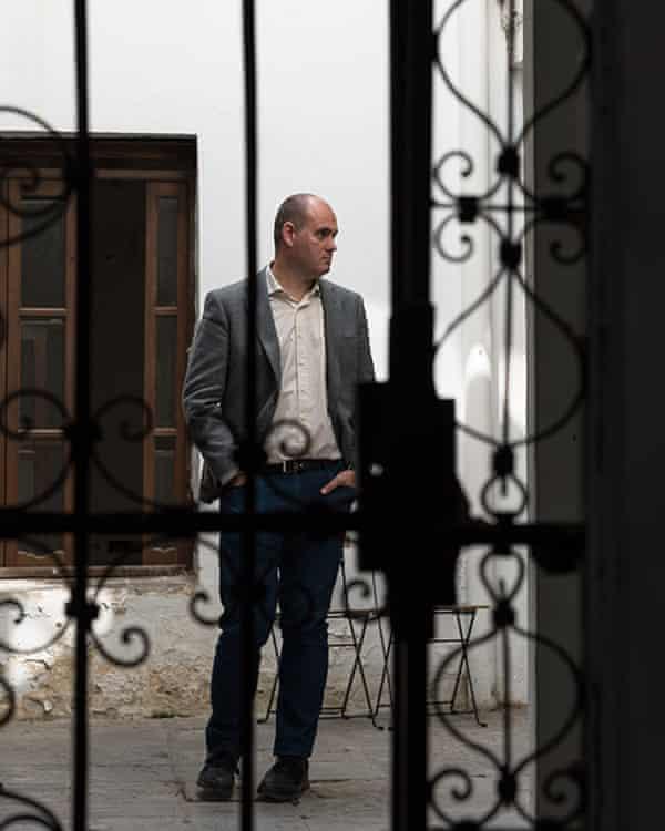 Enrique Bocanegra inside the Casa Natal de Velázquez.