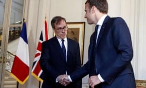 Edward Llewellyn and Emmanuel Macron