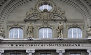 The facade of the Swiss National Bank SNB at the Bundesplatz in Bern.