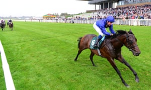 Pinatubo was a runaway winner of the National Stakes at the Curragh.