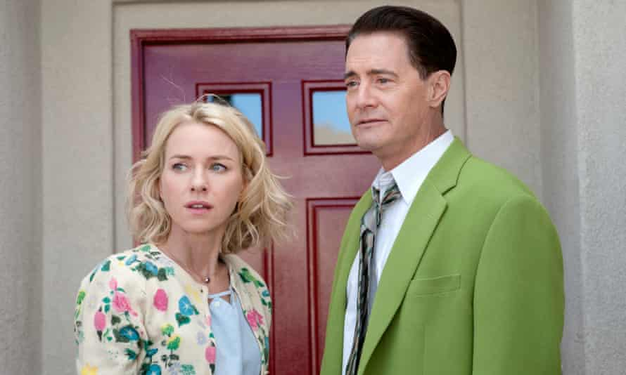 Relearning how to be a human … Kyle MacLachan as Dougie Jones, with Naomi Watts as Janey-E Jones.