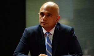The home secretary, Sajid Javid