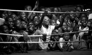 Boxing is the most popular sport in Bukom, a poor neighbourhood in Accra which has produced all of Ghana's world boxing champions. Photograph: Patrick Sinkel/Sony World Photography Awards