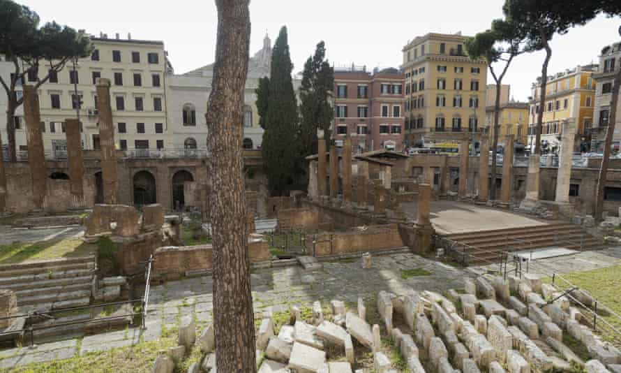 A view of the area of the ancient Campus Martius, where Julius Caesar is believed to have been assassinated in 44 BC. The area is among the monuments that Rome is offering in the form of 'adoption' as it seeks sponsors to fund the monumental job of restoring and maintaining its hundreds of fountains, statues, archaeological sites and historic palazzos.