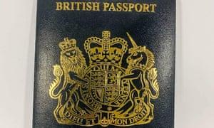 Blue passport