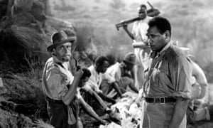 Movie star: Robeson, right, with Sir Cedric Hardwicke in the 1937 film King Solomon's Mines.