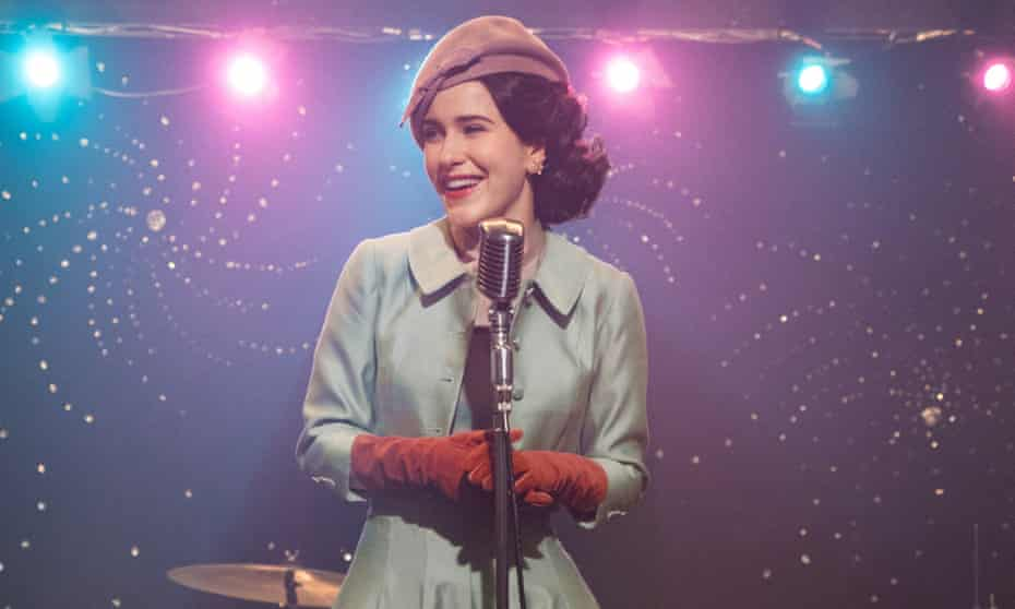 Brosnahan in season two of The Marvelous Mrs Maisel.