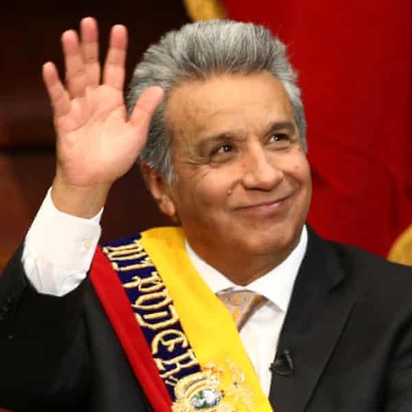 Ecuador's president, Lenín Moreno
