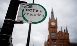 CCTV sign in King's Cross, London.