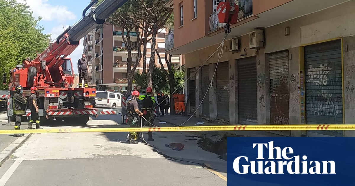 Latest sinkhole in street in Rome swallows vehicles