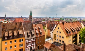 Nuremberg's medieval centre, seen from the castle.