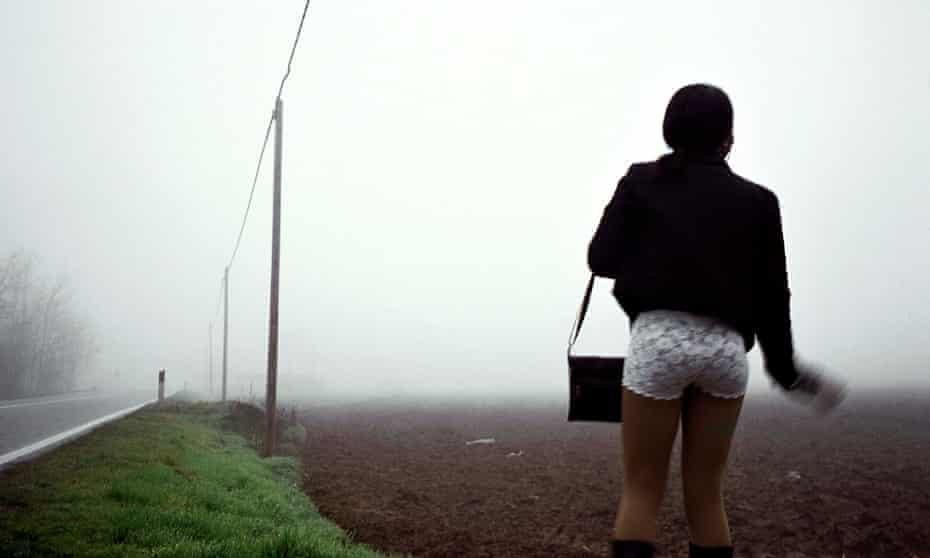 A trafficked Nigerian woman in Italy in 2014.