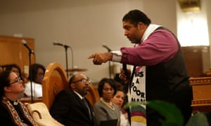 Rev Dr William Barber is co-chair of The Poor People's Campaign, a grassroots movement that aims to 'save America's soul'.