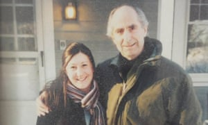 Beckerman with Roth outside his writing studio in Connecticut, 2003.