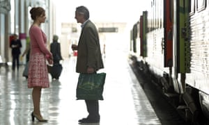 Martina Gedeck and Jeremy Irons in the 2013 film Night Train to Lisbon.