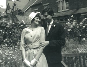 Hunter Davies and Margaret Forster on their wedding day in 1960.