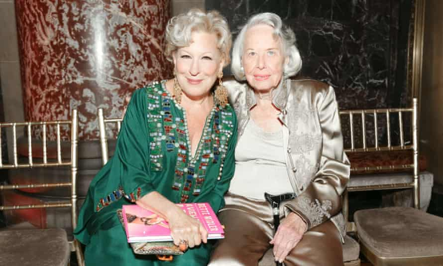 Liz Smith with Bette Midler.