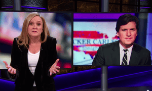 "Samantha Bee to Tucker Carlson: ""We have been watching your show and we found that it's a revolting trash heap of racist talking points."""