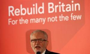 Jeremy Corbyn campaign speech