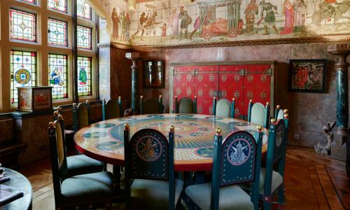 The zodiac table in the dining room.