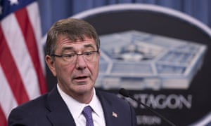 Ash Carter, the US defence secretary, has called the anti-Isis alliance a 'so-called coalition'.