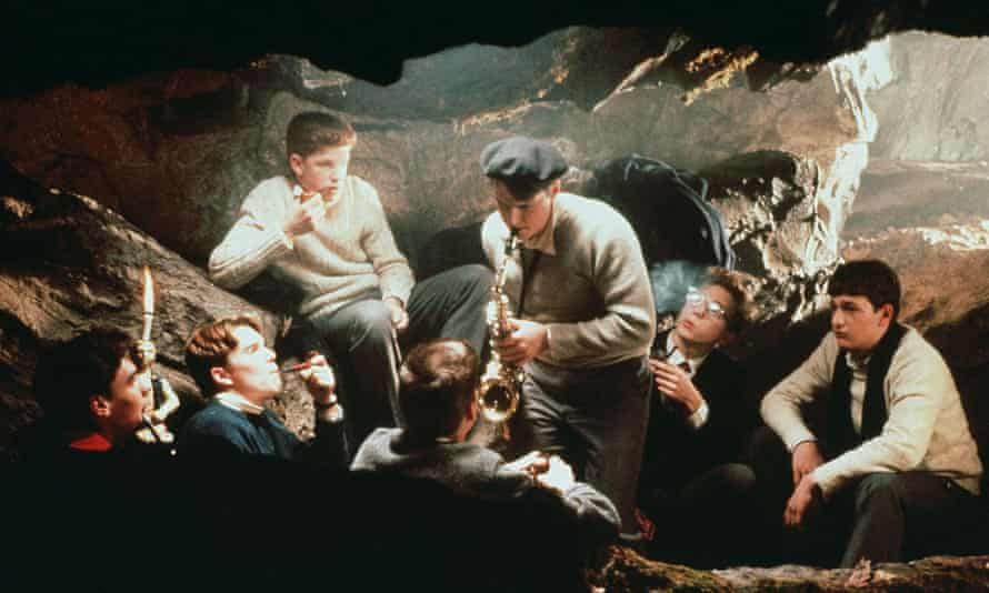 The members of the Dead Poets Society gather