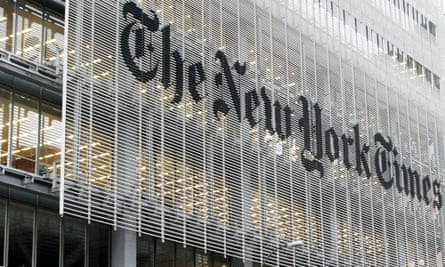 The New York Times HQ.