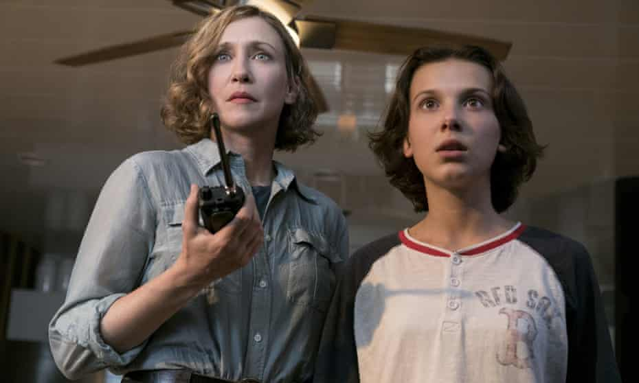 Vera Farmiga and Millie Bobby Brown in Godzilla: King of the Monsters.