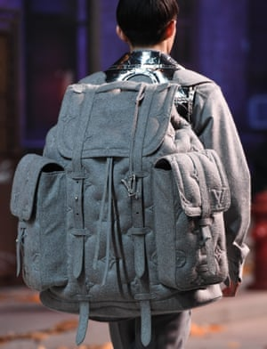 A rucksack by Louis Vuitton on the catwalk.