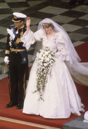 29th July 1981: Charles, Prince of Wales, with Princess Diana, on the altar of St Paul's Cathedral during their marriage ceremony.