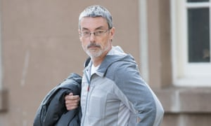 Simon Hayes arriving at Worcester crown court
