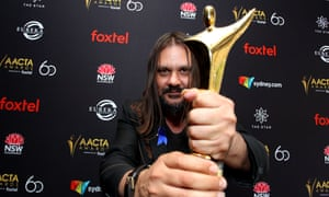 Warwick Thornton with the AACTA Award for best cinematography for Sweet Country