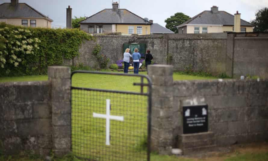 A mass grave for children who died in the Tuam mother and baby home, Galway.