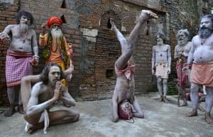 Assam, India Hindu holy men