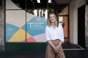 Thread Together was founded in 2012 by Andie Halas, pictured, a former fashion industry insider with a marketing background