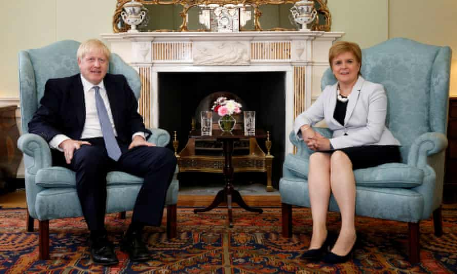 Boris Johnson and Nicole Sturgeon.