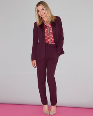 Jess Cartner-Morley in trouser suit and blouse