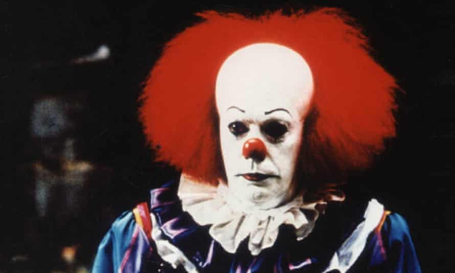 Tim Curry in the small screen adaptation of It.