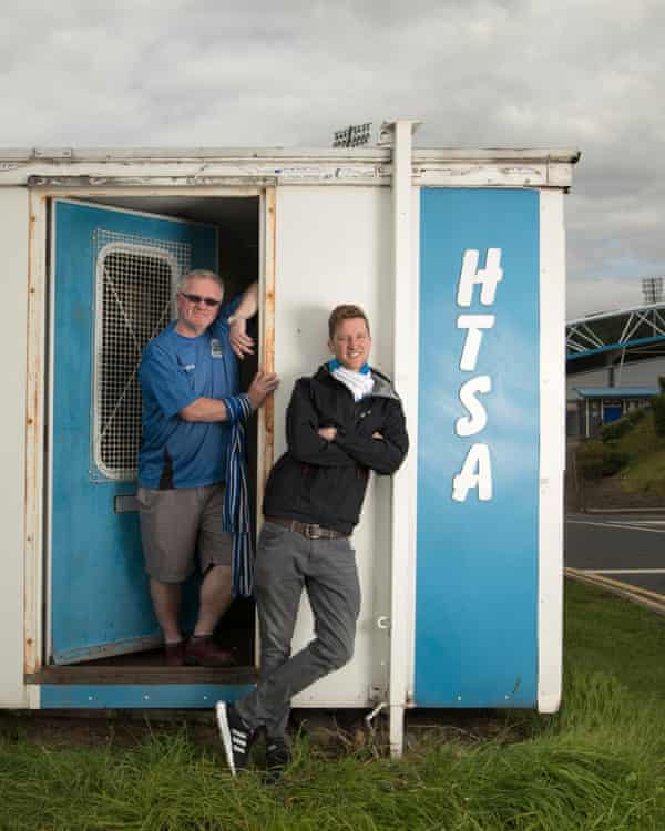 Trevor Whitehead, left, and Jim Chisem of the Huddersfield Town Supporters Association