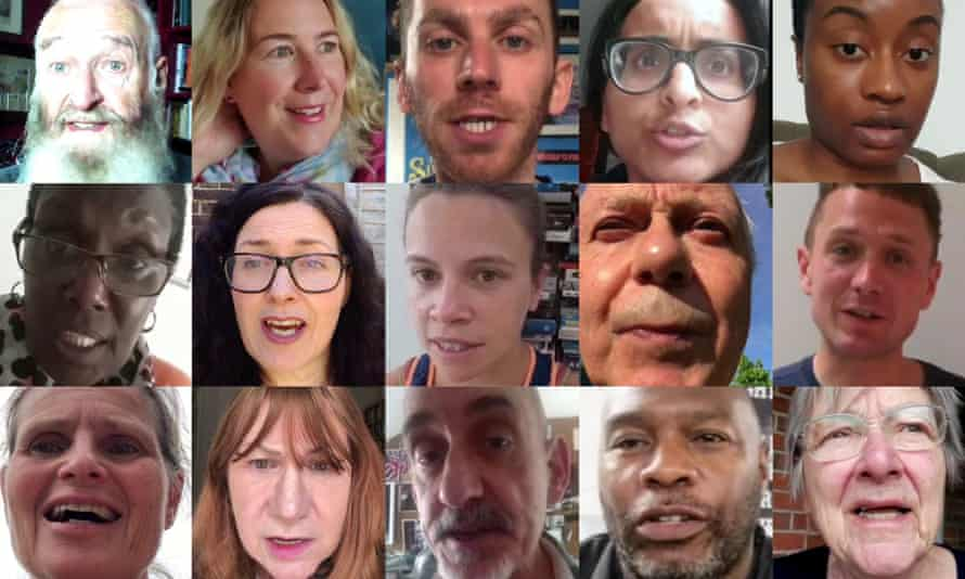 Contributors to the Public Campaign for the Arts video.