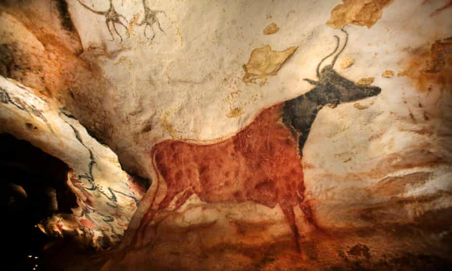'Since Lascaux, we have invented nothing' … a copy of cave art at Lascaux, in the French Dordogne.