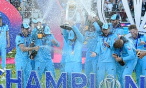The England cricket team celebrate their World Cup triump
